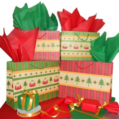 Christmas Paper Carrier Bags.