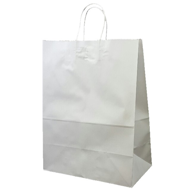 1b936ec2912 Eco Bag – A3 White with Paper Twist Handles – Paper Packaging Place