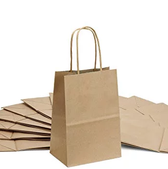 4c63d31ccea Eco Bag – A4 Brown with Paper Twist Handles – Paper Packaging Place