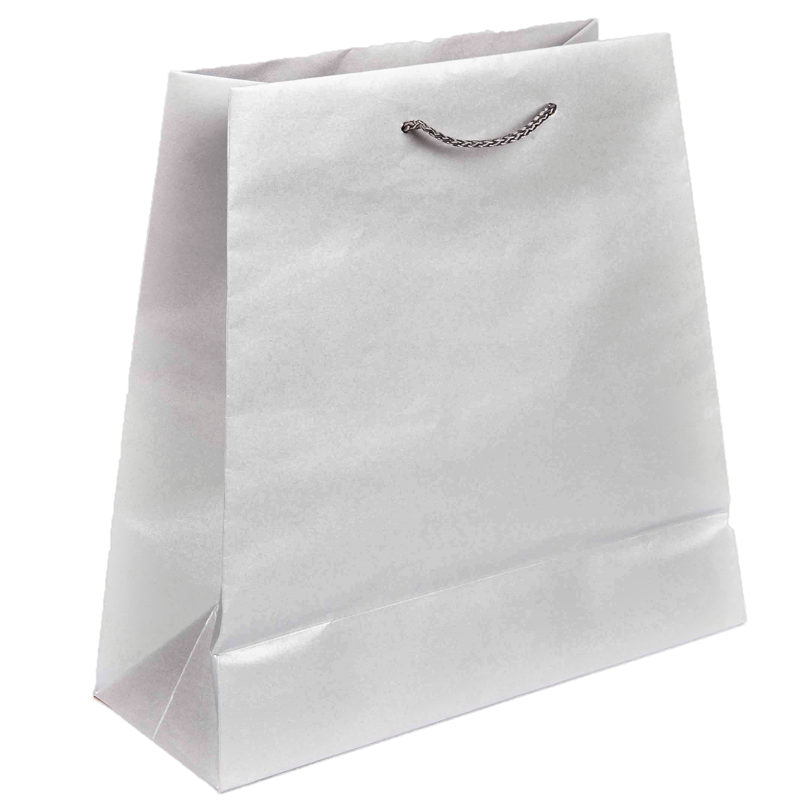 silver medium tapered bag paper packaging place
