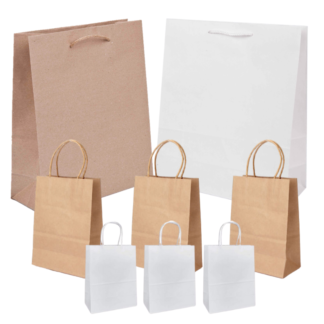 Brown & White Bags